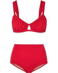 Three Graces London - Bridget Ruched Bikini - Lyst