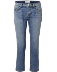 Current/Elliott - The Cropped Mid-rise Straight-leg Jeans - Lyst