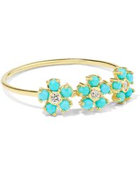 Jennifer Meyer - 18-karat Gold, Turquoise And Diamond Ring - Lyst