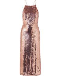 Jason Wu - Open-back Sequined Georgette Midi Dress - Lyst