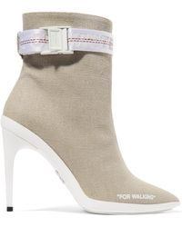 Off-White c/o Virgil Abloh - For Walking Buckled Canvas Ankle Boots - Lyst