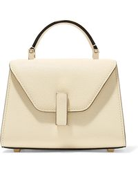 Valextra - Iside Micro Textured-leather Shoulder Bag - Lyst