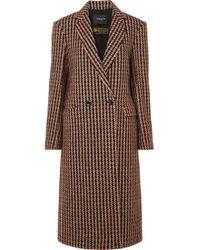 Derek Lam - Checked Wool-blend Tweed Coat - Lyst