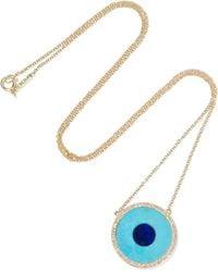 Jennifer Meyer - Evil Eye 18-karat Gold Multi-stone Necklace - Lyst