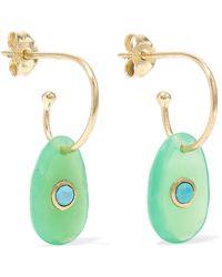 Pascale Monvoisin - Orso 9-karat Rose Gold, Chrysoprase And Turquoise Earrings - Lyst