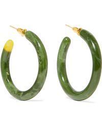 Cult Gaia - Rhea Resin Hoop Earrings - Lyst