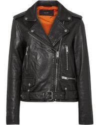 Ksubi - Bad Company Leather Biker Jacket - Lyst