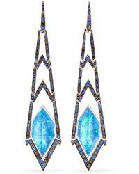 Stephen Webster - Lady Stardust 18-karat White Gold Multi-stone Earrings - Lyst