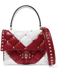 Valentino - Garavani Candystud Quilted Leather Shoulder Bag - Lyst