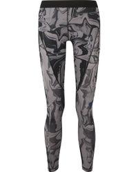 Nike - Hypercool Printed Mesh-paneled Dri-fit Stretch Leggings - Lyst