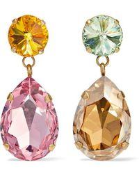 Roxanne Assoulin Hip Hop But Not Goldfarbene Ohrclips Mit Swarovski-kristallen - Pink