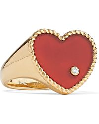 Yvonne Léon - 18-karat Gold, Agate And Diamond Ring - Lyst