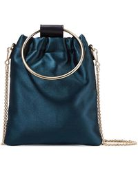 Theory - Post Small Leather-trimmed Satin Shoulder Bag - Lyst