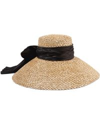 Eugenia Kim - Mirabel Satin-trimmed Straw Hat - Lyst