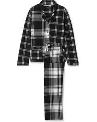 DKNY - Too Good To Give Checked Fleece Pajama Set - Lyst