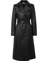 Givenchy - Double-breasted Croc-effect Shell Trench Coat - Lyst