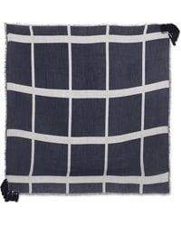 Chloé - Pom Pom Frayed Wool, Silk And Cashmere-blend Scarf - Lyst