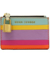 Marc Jacobs - Striped Leather Wallet - Lyst