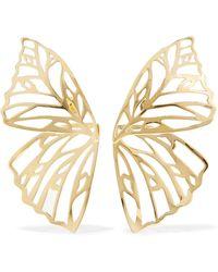 Jennifer Fisher   Butterfly Gold-plated Earrings   Lyst