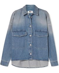 MM6 by Maison Martin Margiela - Oversized Denim Jacket - Lyst
