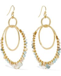 Chan Luu - Gold-tone, Amazonite And Crystal Earrings - Lyst