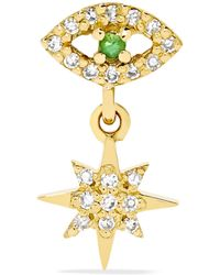 Ileana Makri - Eye Star 18-karat Gold, Diamond And Tsavorite Earring - Lyst