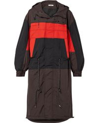 Ganni - Faust Hooded Color-block Shell Jacket - Lyst