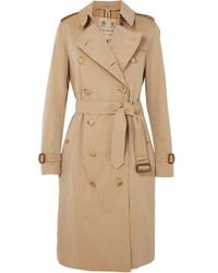 Burberry - The Kensington Long Cotton-gabardine Trench Coat - Lyst