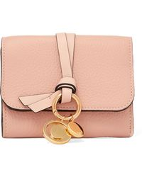 Chloé - Embellished Textured-leather Wallet - Lyst