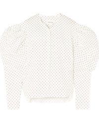 Georgia Alice - Polka-dot Cotton-poplin Shirt - Lyst