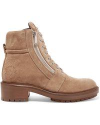 Balmain - Ranger Suede Ankle Boots - Lyst