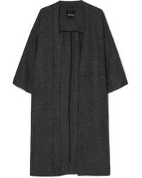 Madewell - Checked Linen-blend Kimono - Lyst