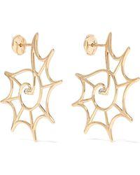 Yvonne Léon - 9-karat Gold Diamond Earrings - Lyst