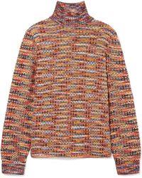 Missoni - Crochet-knit Wool Turtleneck Sweater - Lyst