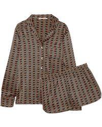Stella McCartney - Poppy Snoozing Printed Stretch Silk-satin Pajama Set -  Lyst dc6de7be7