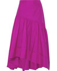 3.1 Phillip Lim - Shirred Silk-taffeta Skirt - Lyst