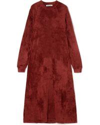 Elizabeth and James - Lafayette Crushed-velvet Midi Dress - Lyst