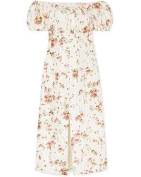 Brock Collection - Dayna Floral-print Silk-satin Midi Dress - Lyst