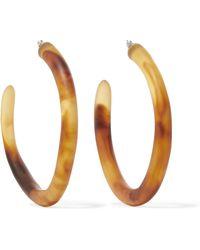Dinosaur Designs - Tortoiseshell Resin Hoop Earrings Tortoiseshell One Size - Lyst