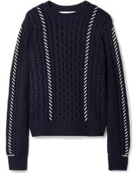 La Ligne - Fisherman Whipstitched Cable-knit Wool Jumper - Lyst