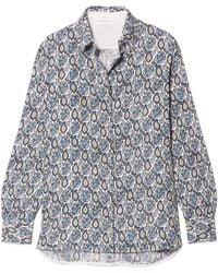 Victoria Beckham - Printed Silk-crepon Shirt - Lyst