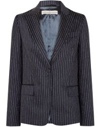 Golden Goose Deluxe Brand - Venice Pinstriped Wool And Silk-blend Blazer - Lyst