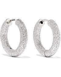 Carolina Bucci - Florentine 18-karat White Gold Hoop Earrings - Lyst