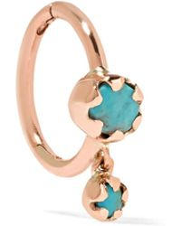 Pascale Monvoisin - Lara 9-karat Rose Gold Turquoise Earring - Lyst
