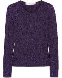 Golden Goose Deluxe Brand - Adelaide Metallic Ribbed Wool-blend Sweater - Lyst