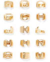 Chloé - Alphabet Gold-tone Ring Gold E - Lyst dbe96d344