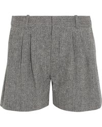 Chloé - Wool-blend Tweed Shorts - Lyst