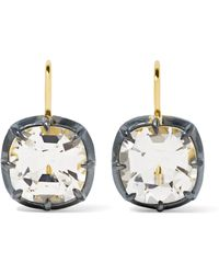 Fred Leighton - Collection 18-karat Gold, Silver-plated And Topaz Earrings - Lyst