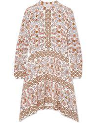 Tory Burch - Celeste Printed Silk Mini Dress - Lyst