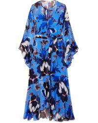 Diane von Furstenberg Lizella Maxi-wickelkleid Aus Krepon Mit Blumenprint Und Volants